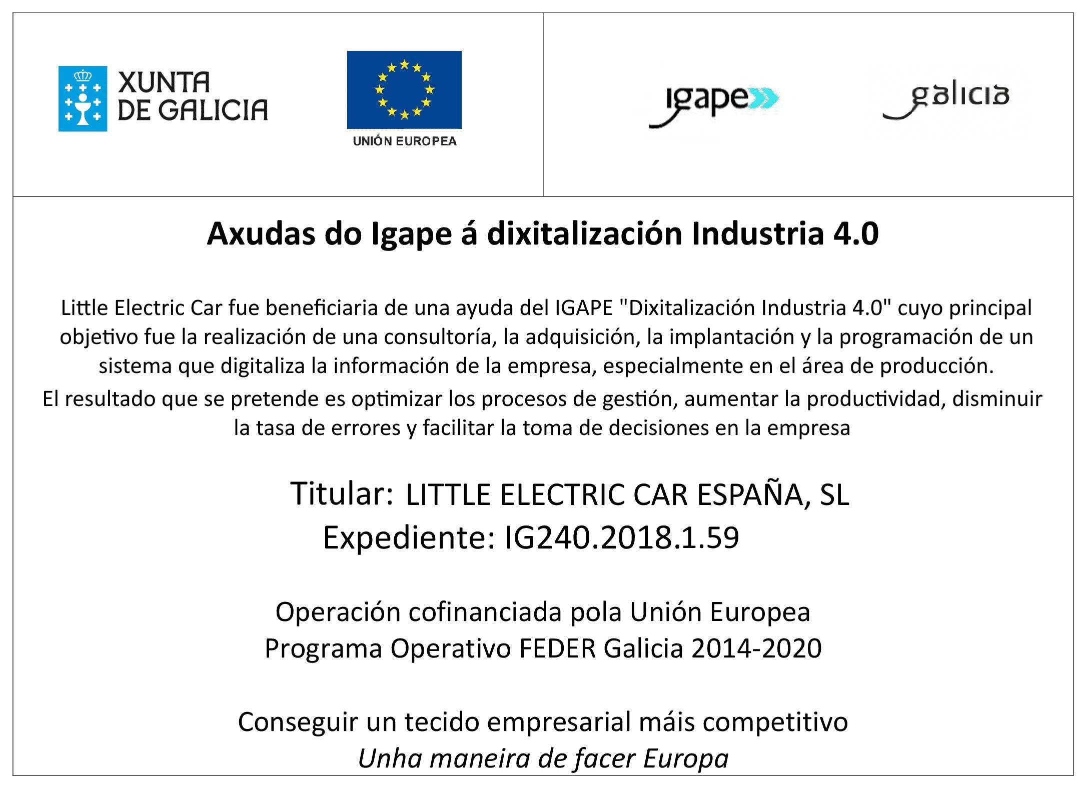 IGAPE Proxecto Finaciado